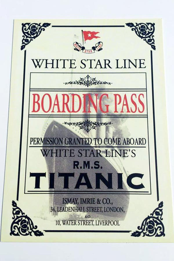 Boarding Pass Postcard