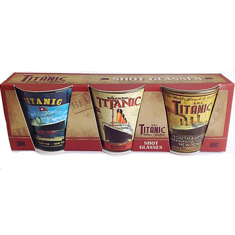 Titanic Shot Glass 3 Pack