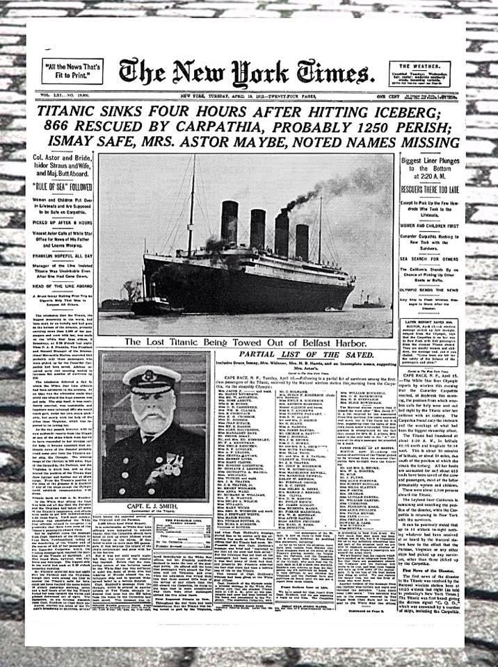 Titanic New York Times Poster