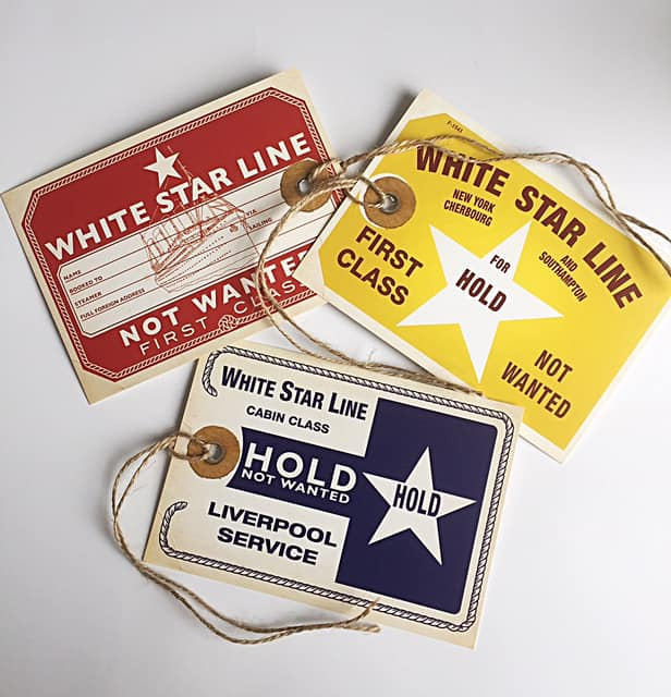 Titanic Luggage Label 3 pack