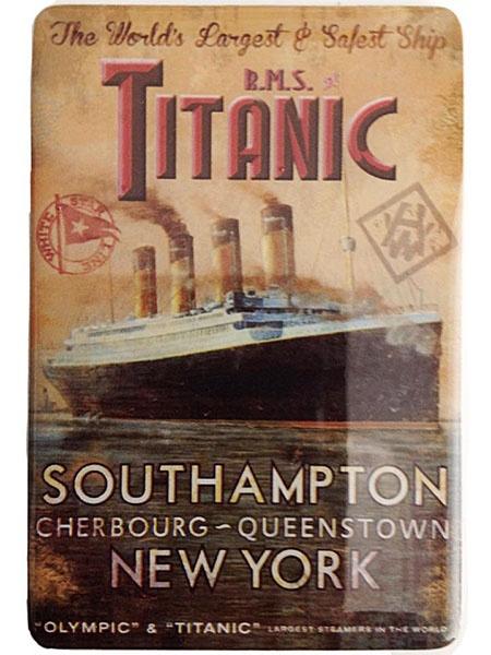 Titanic Luxury Magnet Southampton to NY