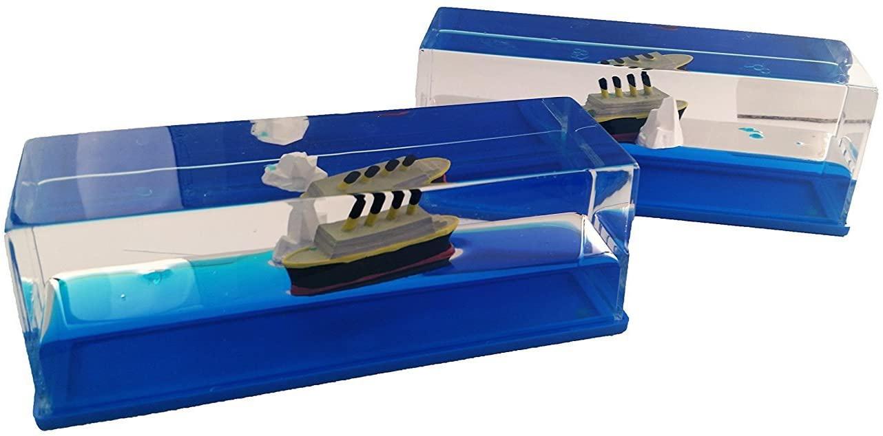 Titanic Paperweight with Iceberg