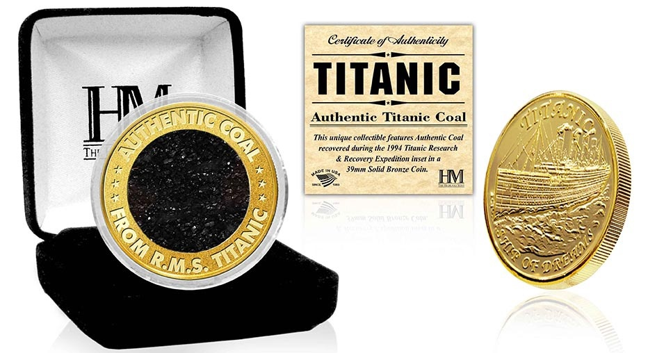 Limited Edition Titanic Coal Coin