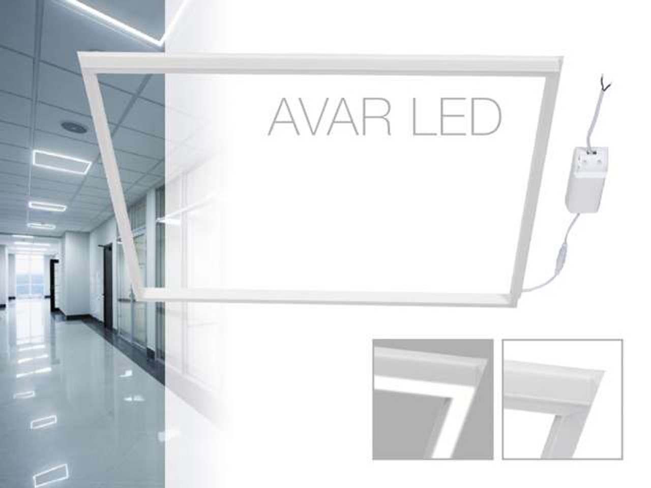 40W Ceiling Suspended Recessed LED Frame White Light Office - MKGT