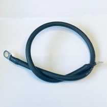 1000mm Battery Lead / Earth Lead 70A Amp Black 10mm2 Cable Wire