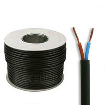100m Reel Black 3182Y 2.5mm 2 Core Round PVC Flexible Cable Wire