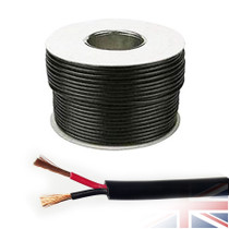 25 Meters 2x 0.75mm² Red/Black Round Speaker Audio Cable Loudspeaker Wire Car Home Hifi