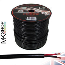 50 Meters 2x 4.0mm² Red/Black Round Speaker Audio Cable Loudspeaker Wire Car Hifi