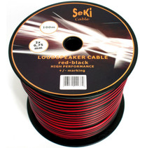50 Meters 2x 0.75mm Red/Black Twin Speaker Audio Cable Loudspeaker Wire Car Home Hifi