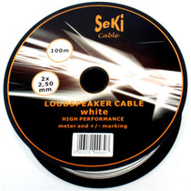 20 Meters 2x 2.5mm White Twin Speaker Audio Cable Loudspeaker Wire Car Home Hifi