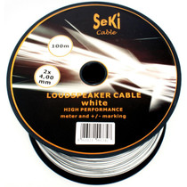 100 Meters 2x 4.0mm White Twin Speaker Audio Cable Loudspeaker Wire Car Home Hifi