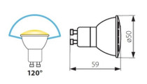 TRIColor LED Lamp Spot GU10 5W Light Colour Selectable Warm White Neutral Cold