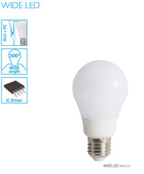 9W Kanlux LED Lamp/Light Bulb Neutral White WIDE LED E27-NW