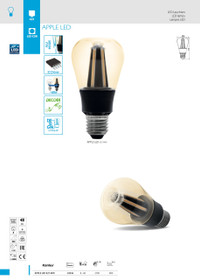 8W LED Lamp/Light Bulb Warm White 8W 2700k E27 APPLE LED E27-WW