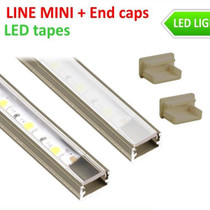 2 Metres Inox Aluminium Extrusion Profile LineMini for LED Strip Lights