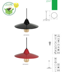 Jovit-B  Modern Black Kanlux Ceiling Pendant LED Lamp Lights E27
