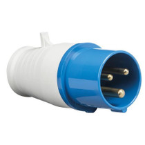 240V IP44 16A Plug 2P+E - Blue 3 PIN Industrial Plug