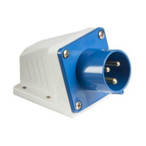 240V IP44 16A Appliance Inlet - Blue 3 PIN Industrial Socket