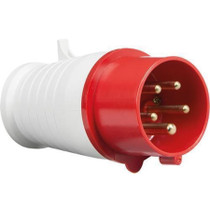 415V IP44 32A Plug 3P+N+E - Red 5 PIN Industrial Plug