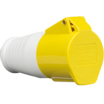 110V IP44 16A Connector 2P+E - Yellow 3 PIN Industrial Plug