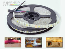 5 Metres 5050 IP65 RGBW Cool White SMD LED Strip Lights + 12V Adapter Kitchen Room