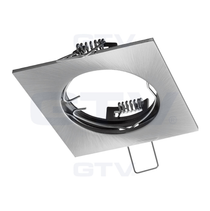 PORTO Inox 240V Fixed Ceiling Fitting Downlight GTV For GU10 MR16 LED