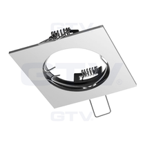 PORTO Chrome 240V Fixed Ceiling Fitting Downlight GTV For GU10 MR16 LED