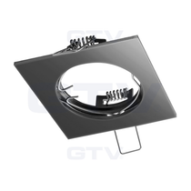 PORTO Black Chrome 240V Fixed Ceiling Fitting Downlight GTV For GU10 MR16 LED