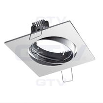 Porto-K Chrome 240V Tilt Ceiling Fitting Downlight GTV For GU10 MR16 LED