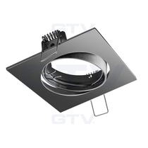 Porto-K Black Chrome 240V Tilt Ceiling Fitting Downlight GTV For GU10 MR16 LED