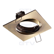 Porto-K Patina 240V Tilt Ceiling Fitting Downlight GTV For GU10 MR16 LED