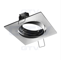 Porto-K Inox 240V Tilt Ceiling Fitting Downlight GTV For GU10 MR16 LED