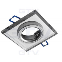 Brillante Square White Glass Fixed Fitting For Downlight Ceiling Soptlight