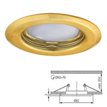 Argus Gold Fixed Fitting Downlight Ceiling Spotlights For GU10 MR16 LED