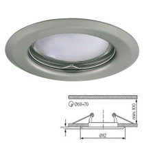 Argus Matt Chrome Fixed Fitting Downlight Ceiling Spotlights For GU10 MR16 LED