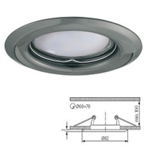 Argus Graphite Fixed Fitting Downlight Ceiling Spotlights For GU10 MR16 LED