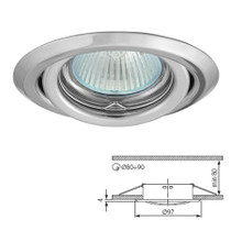 Argus Chrome Tilt Fitting Downlight Ceiling Spotlights For GU10 MR16 LED
