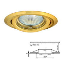 Argus Gold Tilt Fitting Downlight Ceiling Spotlights For GU10 MR16 LED