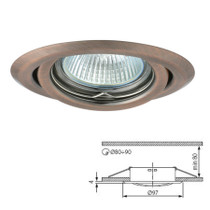 Argus Matt Brass Tilt Fitting Downlight Ceiling Spotlights For GU10 MR16 LED