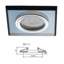 Mars Crystal Glass Black Fixed Fitting Downlight Ceiling Spotlights For GU10 MR16 LED