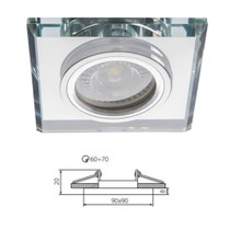 Mars Crystal Glass White Fixed Fitting Downlight Ceiling Spotlights For GU10 MR16 LED