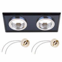 Mars Duo Crystal Glass Black Fixed Fitting Downlight Ceiling Spotlights For GU10 MR16 LED