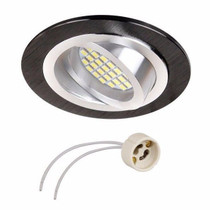 Brava Black Tilt Round Ceiling Fitting For GU10 MR16 LED