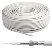 1 Metre WHITE RG6 Digital Satellite Aerial Coax Cable for Sky, Freesat & TV Aerial