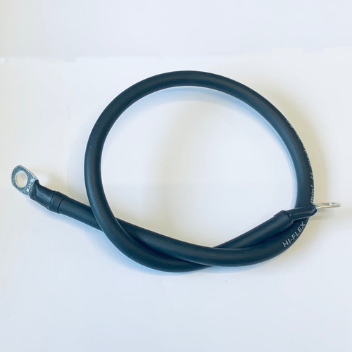 250mm Battery Lead / Earth Lead 70A Amp Black 10mm2 Cable Wire