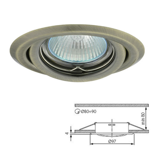 Argus Matt Chrome Tilt Fitting Downlight Ceiling Spotlights For GU10 MR16 LED