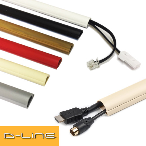 D-Line 30x15mm TV Electrical Cable Wire Plastic Cover Wire Trunking