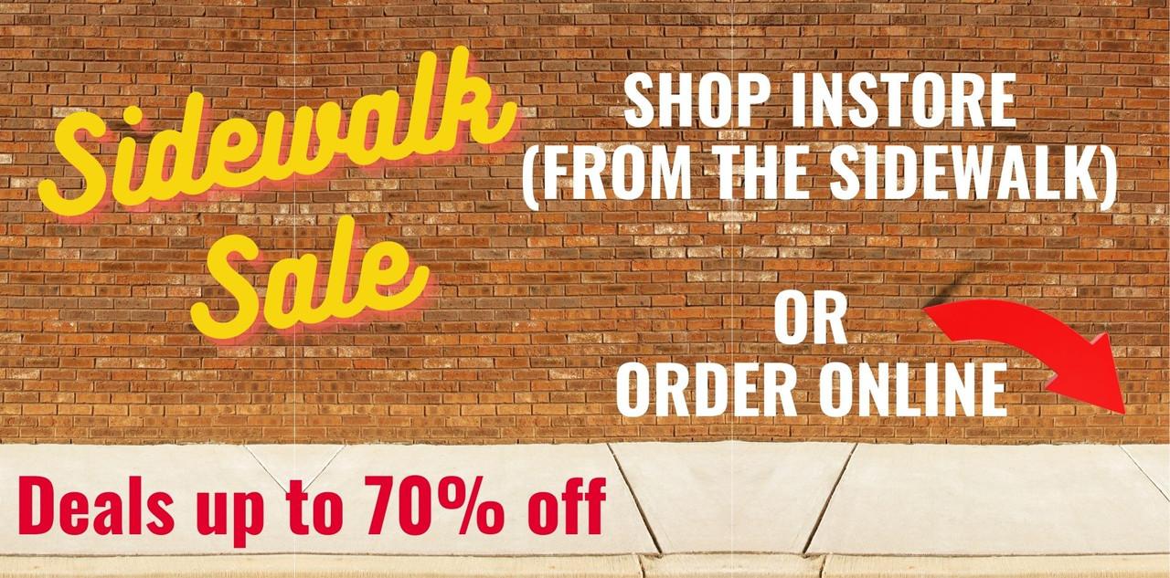 Sidewalk Sale up to 70% off