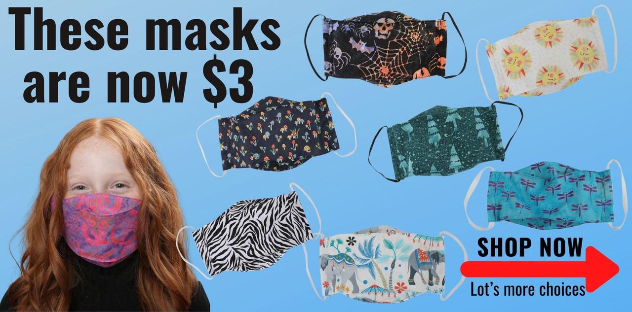 Masks now on sale