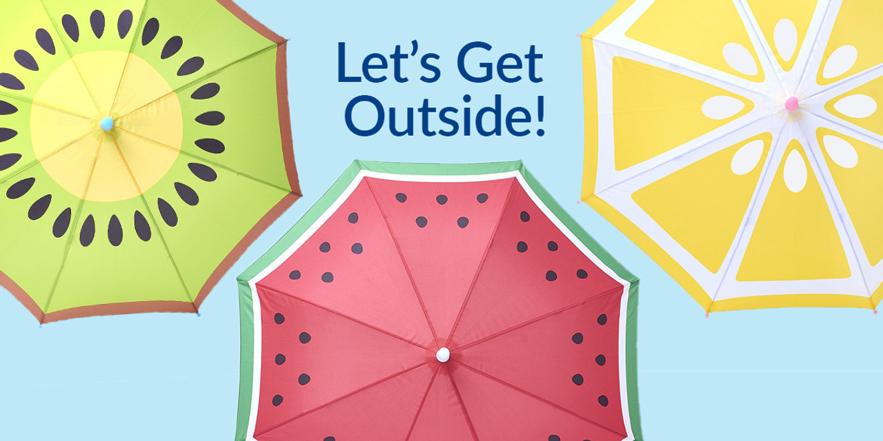 Let's get outside - 3 umbrellas